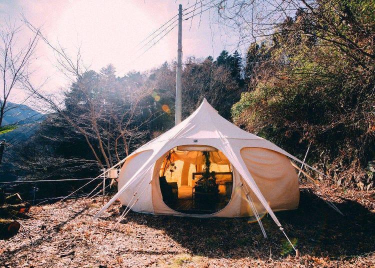 更靠近大自然~東京・奧多摩的自然野外宿營設施