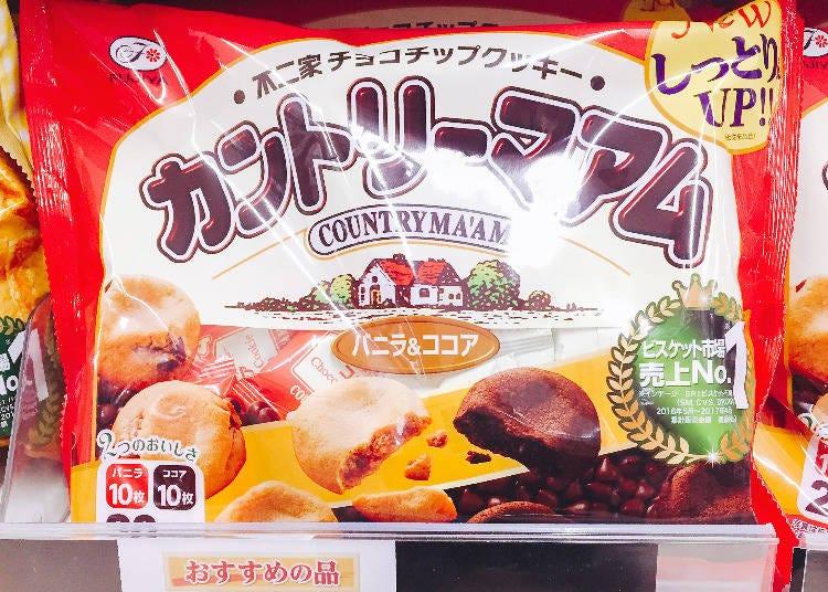 第1名 不二家 COUNTRY MAAM(香草&可可亞)(カントリーマアム(バニラ&ココア))