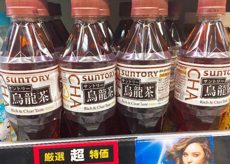 飲品排行第5名 SUNTORY 烏龍茶