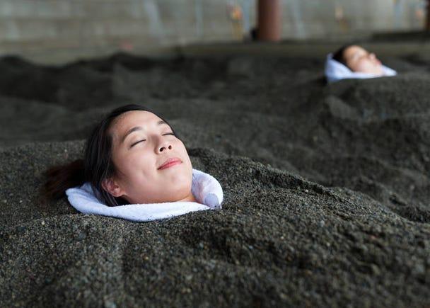 모래찜질 온천이 유명! 가고시마현 이부스키……염화물 온천수