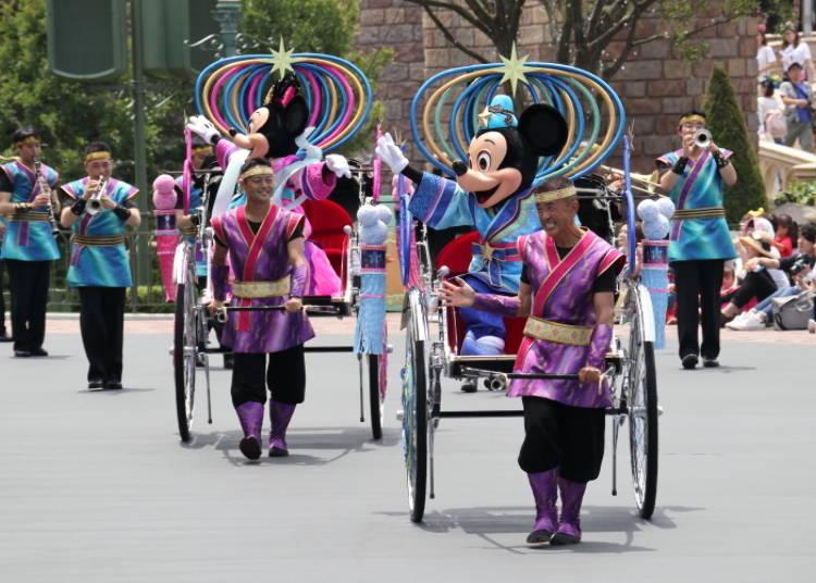 TDL/「七夕グリーティング」では彦星と織姫たちがパレード!