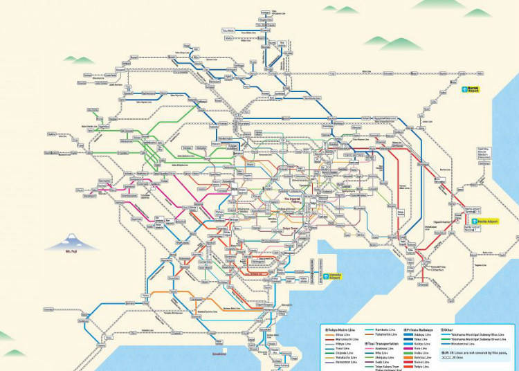 Greater Tokyo Area Pass Coverage