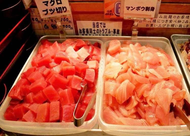 도쿄 맛집 - 우에노에서 산지직송의 신선한 해산물 다베호다이(뷔페)가 1200엔!