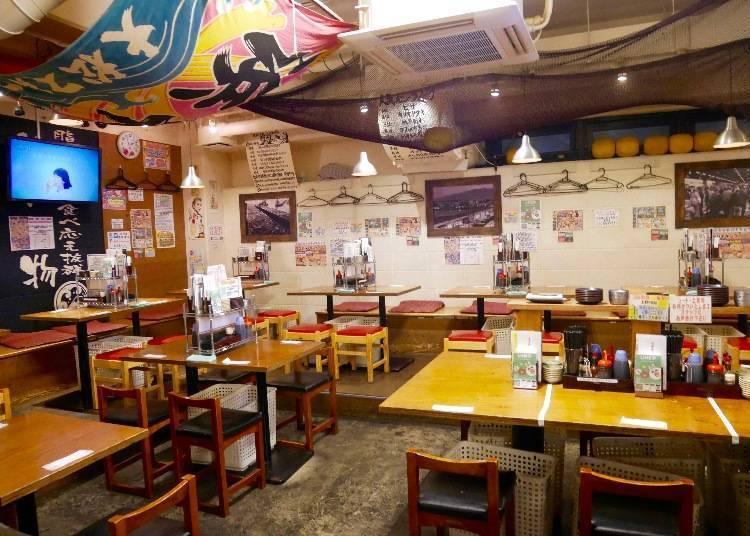 우에노의 누마즈코 카이쇼에서 신선한 해산물을 맘껏 먹어보자!