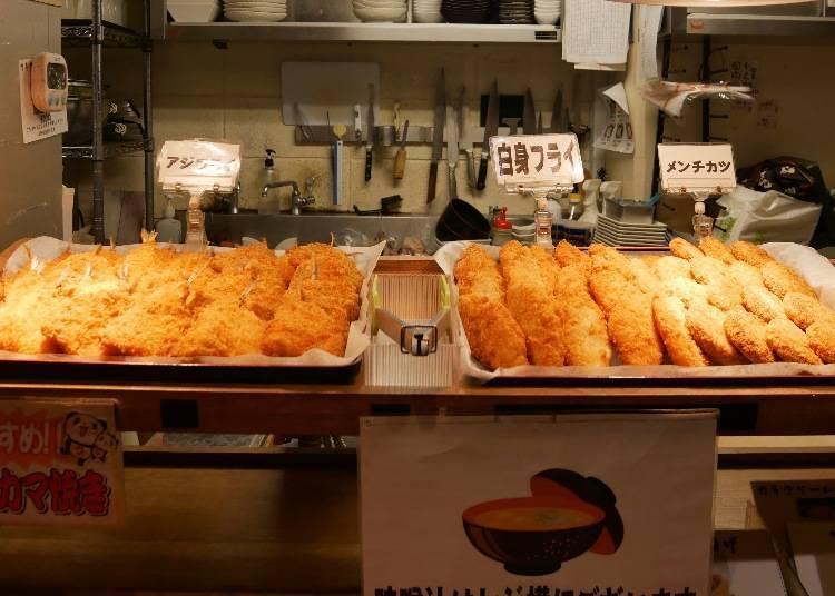 생선회가 전부가 아니다! 튀김류도 있다.