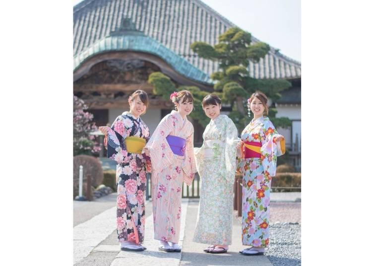 Kimono Rental Yuzuya: Wear a kimono while walking the streets of this castle town