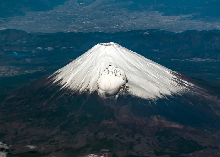 14. Mount Fuji is an active volcano comprised of three volcanos
