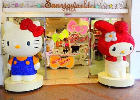도쿄 긴자 볼거리 - 헬로우 키티 스토어! 산리오 월드 긴자(Sanrio World Ginza)에 가보다!