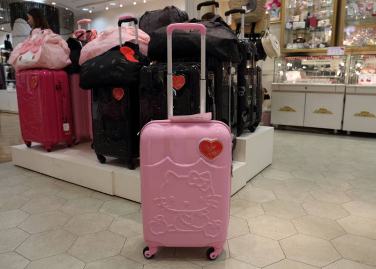 Hello Kitty Carry-On Suitcase (Apple): Let's Travel With Kitty! (15,800 Yen)