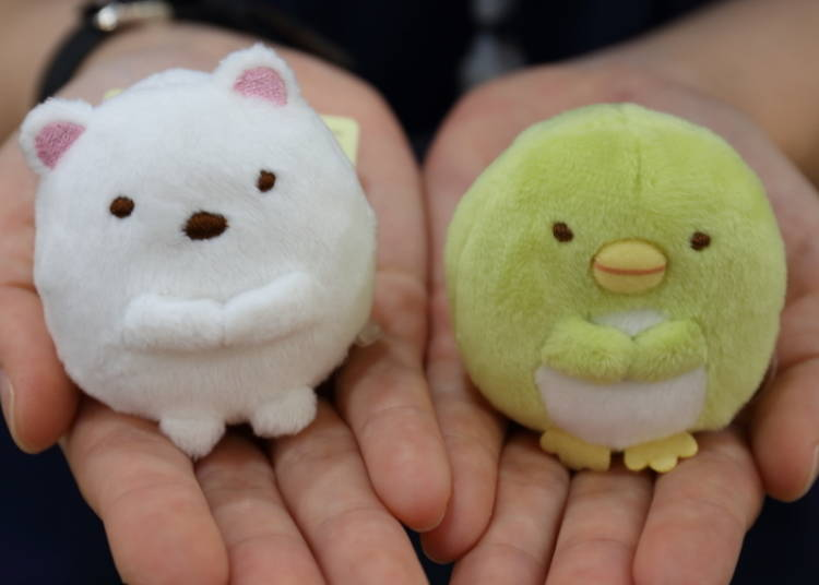 "No. 3: Just fits in the palm of your hand – ""Sumikkogurashi Tenori Stuffed Toys"""