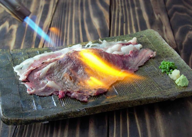 말고기, 소고기, 돼지고기, 닭고기 등 30종류 이상의 고기 초밥이 있다!