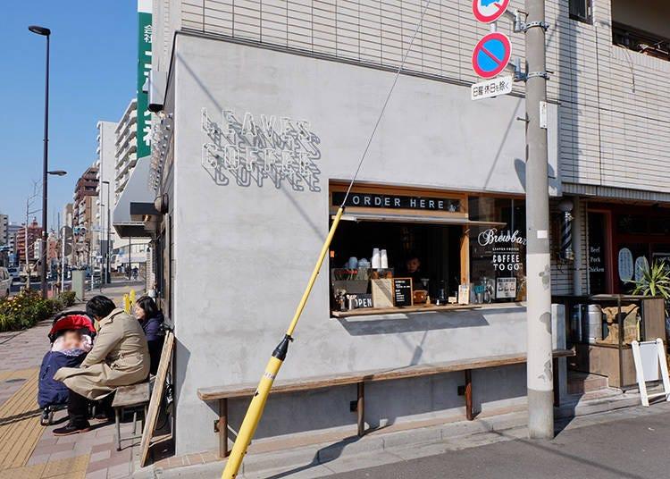 與晴空塔與隅田川相伴的街角咖啡店「LEAVES COFFEE APARTMENT」