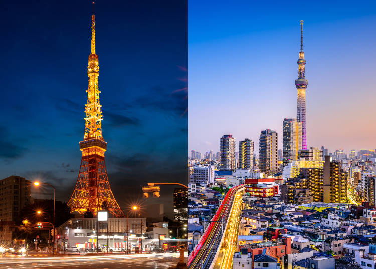 For What Purpose were Tokyo Tower and Tokyo Skytree Built?