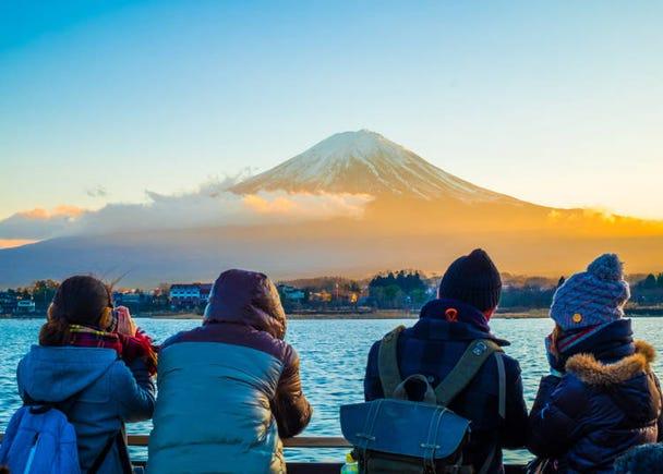冬に青空が見れるなんて!日本は晴れの日が気持ちいい~!