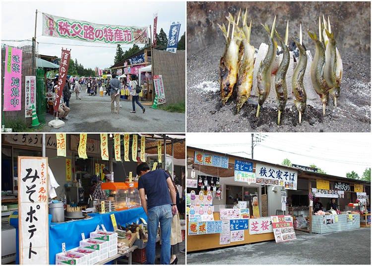 Enjoying Shibazakura #5 – Savoring Local Delights at the Market!
