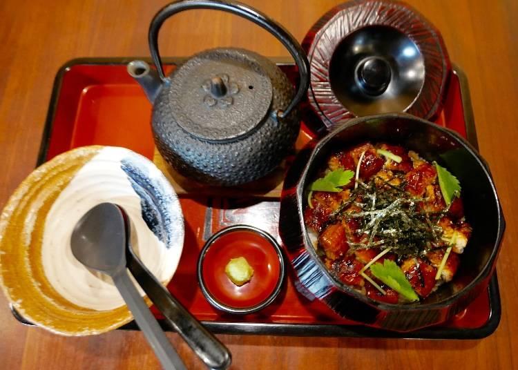 【800日圓】來「宇奈とと(Unatoto)」嘗試日本才有的鰻魚吃法!鰻魚兩吃茶泡飯(ひつまぶし)