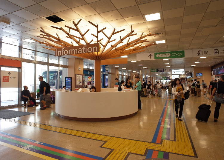 2. The Main Stations and Ticket Counters are on the 4th Floor!