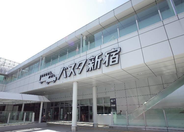 역에서 가까운 바스타 신주쿠에서 버스 여행을 즐기자!