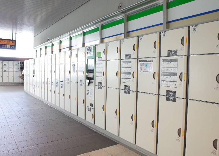 7. 共有3個地方設有置物櫃