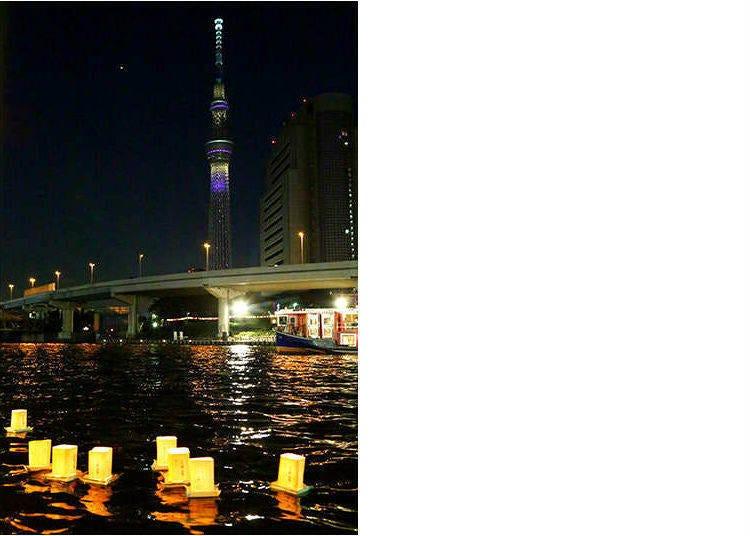 「浅草夏夜祭典 流放燈籠」