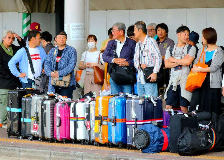 東京旅遊攜帶大行李箱搭乘交通工具的方法&超方便置物櫃、寄放行李、宅配服務!