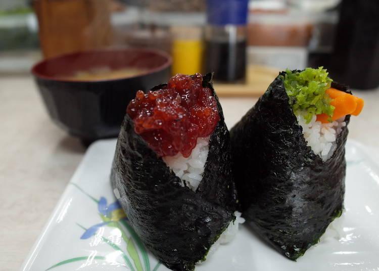 맛집⑦ 오오츠카에키마에: 다채로운 재료의 주먹밥 '봉고'