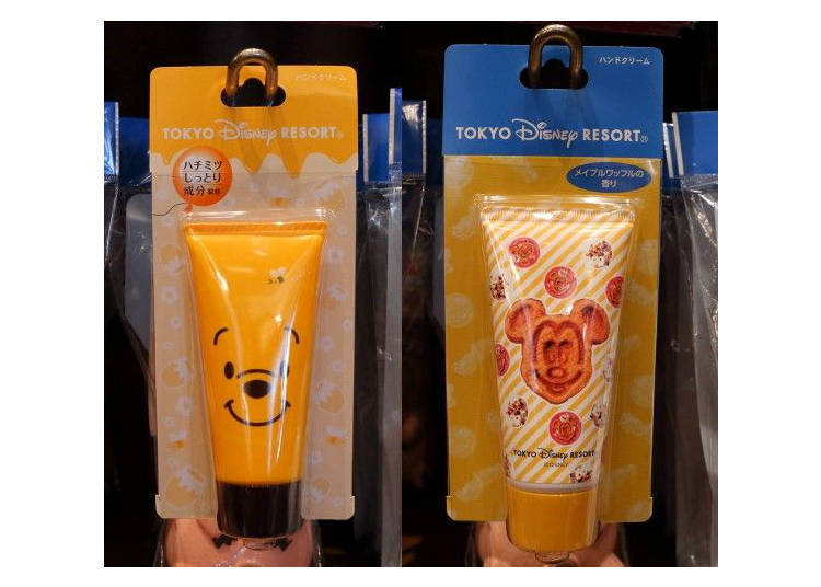 Winnie the Pooh & Mickey Mouse Waffle Scented Hand Cream, 800 yen each