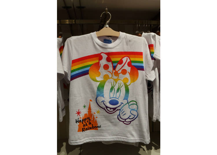 Mickey & Friends Rainbow T-Shirts: Bright Colors Remind You of the Disney Magic! (1,600 – 2,600 yen each)