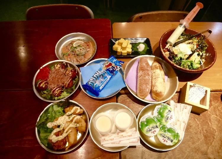 超吸睛的針筒注射沙拉+美味有趣餐點 吃到飽只要3000日圓起
