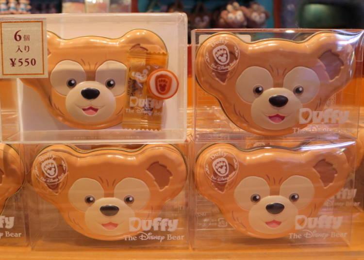 더피 얼굴모양의 상자가 귀엽다! 더피 캔디 (홍차맛)550엔
