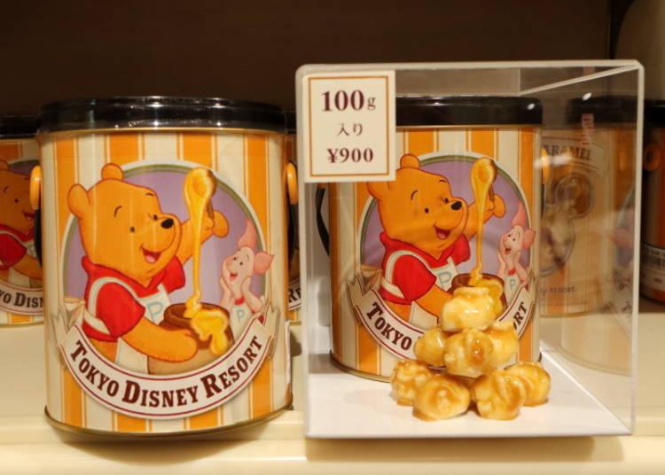 도쿄디즈니랜드의 명물을 다같이 즐기자! 팝콘 (허니 맛 900엔 위), (버터 캬라멜 맛 900엔 아래)
