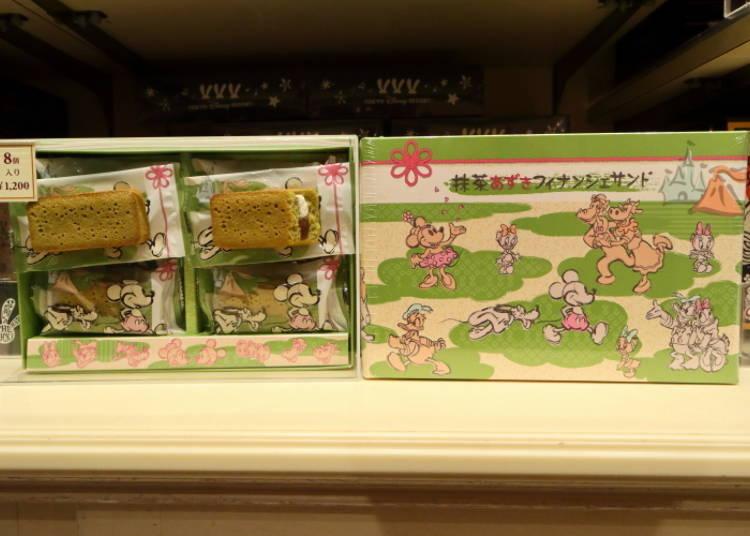 도쿄디즈니랜드에서는 소량만 판매! 말차 맛 일본풍 과자 피낭시에 샌드(말차 팥 맛)