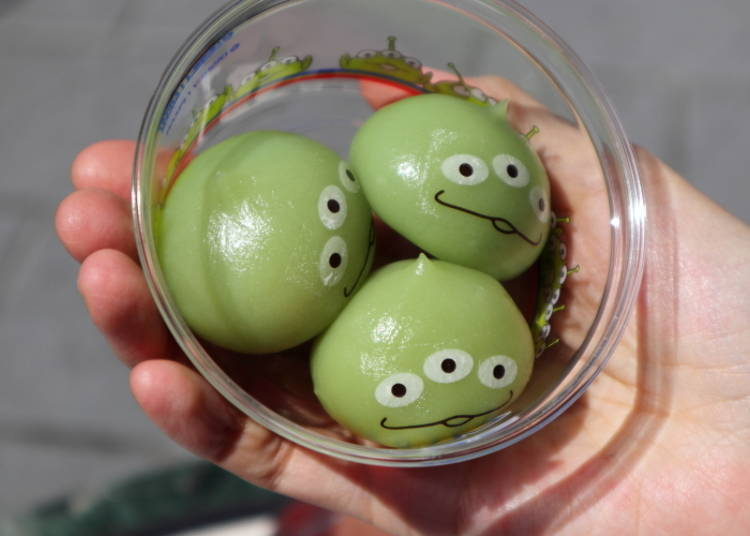 New Cold Dessert! Cute 3-Eyed Little Green Aliens, 360 yen