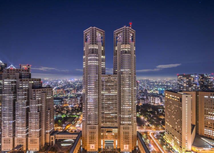 4. Tokyo Metropolitan Government Building - Around 6:00 PM