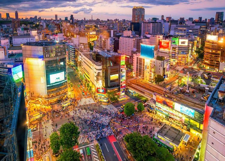 5. Cross the Shibuya Scramble