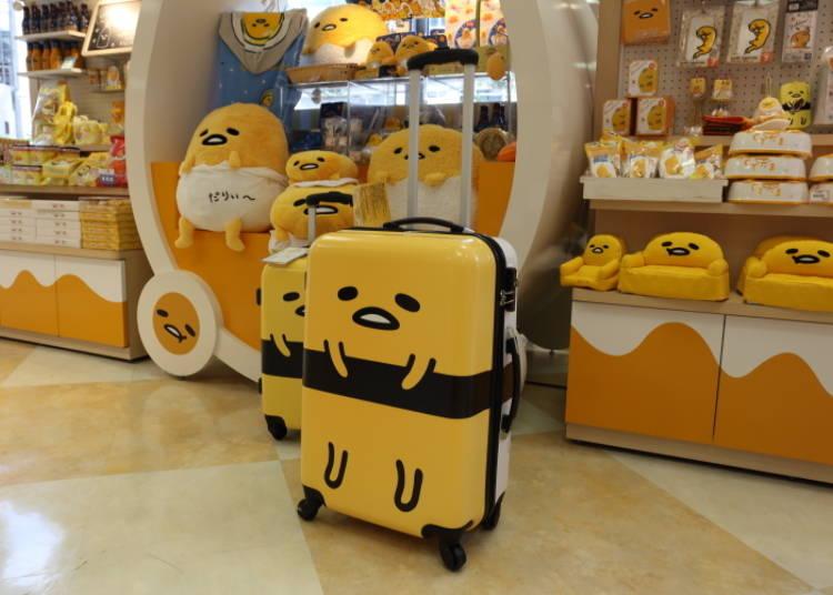 Gudetama Suitcase L: Super Unique, Cute Travel Item! Gudetama Turns Into Sushi! (17,800 Yen)