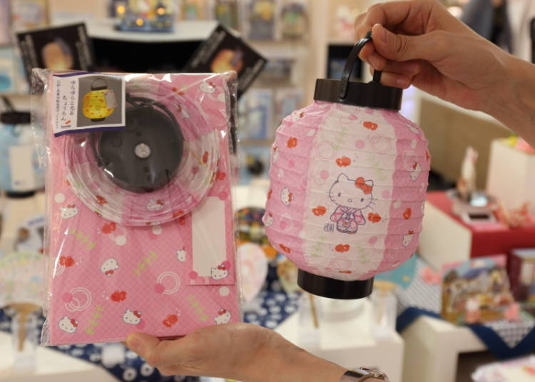 Hello Kitty Glowing Paper Lantern Summer Card: A Beautiful Piece of Japanese Summer! (1,500 Yen)