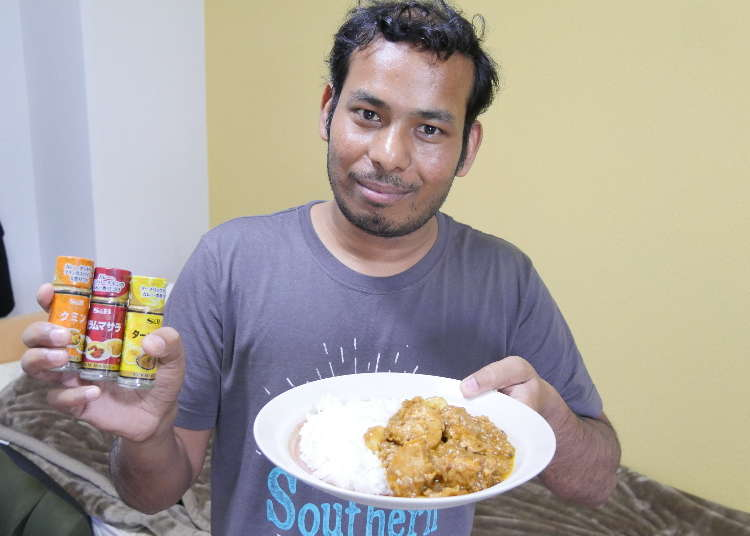 100 Yen Challenge: Can Our Chef Make Authentic Indian Curry with Just 100 Yen Shop Spices? #Recipes