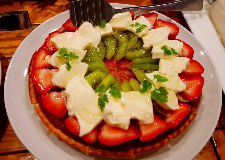 莫札瑞拉起士草莓水果巧克力塔(フルーツとモッツァレラチーズのカプレーゼ仕立て)