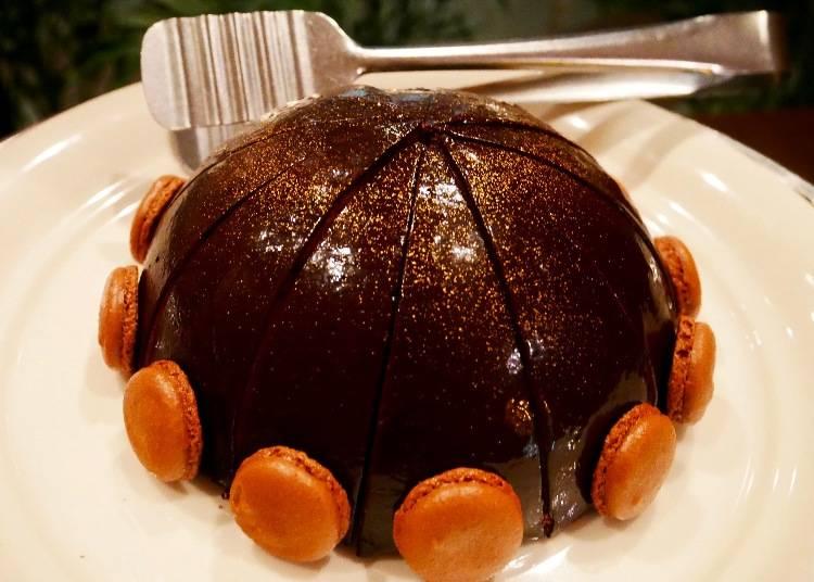 73%可可圓頂鏡面蛋糕(ムースショコラドーム)
