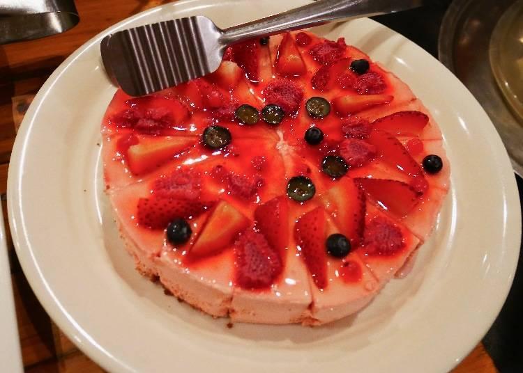 莓果乳酪蛋糕(赤いレアチーズケーキ)