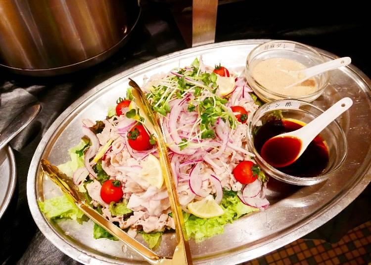 鮮嫩豬肉沙拉(豚しゃぶサラダ)