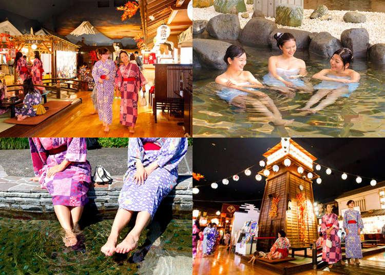 Onsen in Tokyo: Enjoying a Traditional Hot Spring Day at 'Odaiba Oedo Onsen Monogatari'!