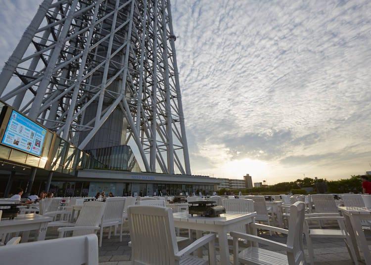 東京晴空塔(R)下的啤酒花園-「仰望晴空啤酒花園」