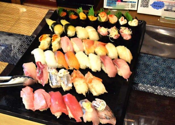 도쿄 긴시초 - 고급 스시와 니혼슈 80종류가 무제한! 매일 서프라이즈를 펼치는 곳!