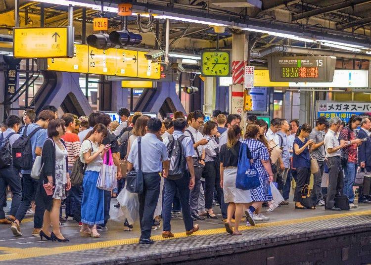東京各地方主要電車末班車時間