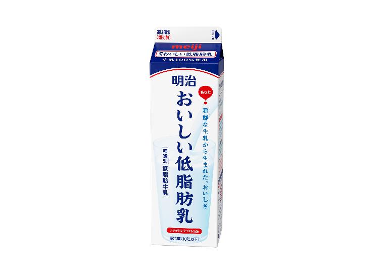 明治牛奶專攻健康志向市場的低脂肪乳