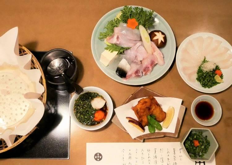 高貴不貴的虎河豚套餐 生吃、炸物、火鍋多種吃法一次滿足
