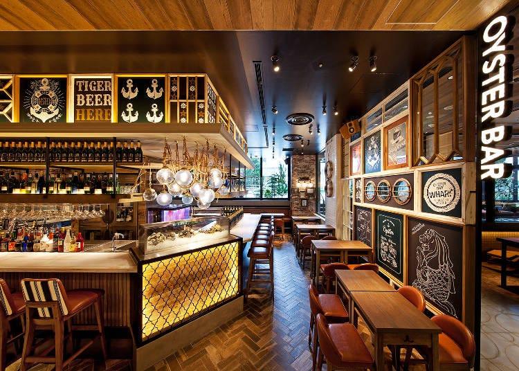 日本首店開幕!新加坡發源的牡蠣料理餐廳「OysterBar wharf」