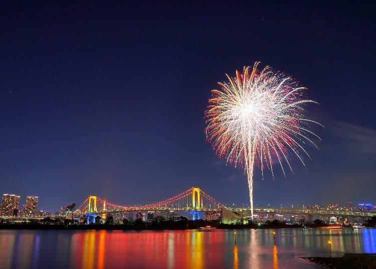 5. Odaiba Marine Park (Odaiba Kaihin Park): One of Tokyo's Most Iconic Night Views